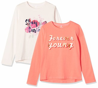 Name It Girl's Nkfrolina Ls Top Camp 2p Sweatshirt