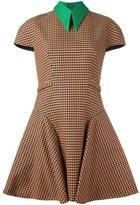 DELPOZO short sleeve checked dress