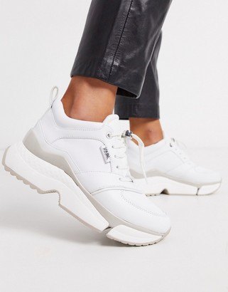 Karl Lagerfeld Paris chunky white leather trainers