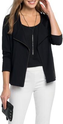 Nic+Zoe Perfect Conquer Knit Moto Jacket