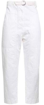 Brunello Cucinelli Belted High-rise Tapered Jeans