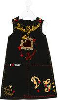 Dolce & Gabbana embroidered dress - kids - Cotton/Spandex/Elastane - 4 yrs