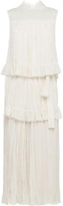 Prada Wrinkled-Effect Tiered Dress