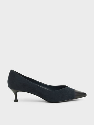 Charles & Keith Brushed Effect Textured Sculptural Heel Pumps