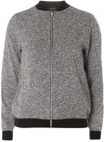 Dorothy Perkins Salt and Pepper Bomber Jacket