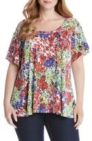 Karen Kane Plus Size Women's Flutter Sleeve Cold Shoulder Top