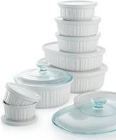 Corningware French White 18 Piece Bakeware Set