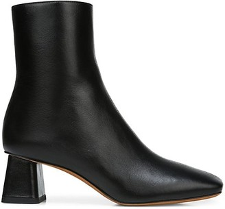 Vince Koren Square-Toe Leather Ankle Boots