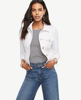 Ann Taylor Petite Denim Puff Sleeve Jacket