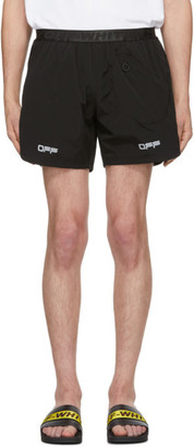 Off-White Black Lounge Track Shorts
