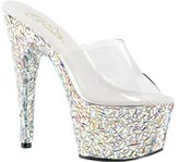 Pleaser USA Women's Bejeweled 701MR Platform Slide