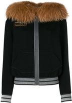 Mr & Mrs Italy - bike print hooded jacket - women - Cotton/Lyocell/Wool/glass - 40