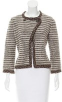 Chanel Cashmere-Blend Metallic Cardigan
