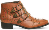 Office Lucky charm leather ankle boots