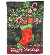 """Evergreen Christmas """"Happy Holidays"""" Indoor / Outdoor Garden Flag"""