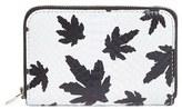 Alexander Wang Women's 'Leaves - Mini Compact' Genuine Snakeskin Zip Wallet - White