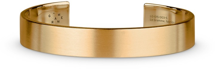 Le Gramme 'Le 33 Grammes' brushed 18k yellow gold cuff