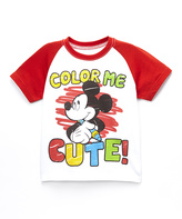 Freeze Red Mickey 'Color Me Cute' Raglan Tee - Toddler & Boys