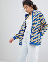Wrangler Blue and Yelow Zip Through Windbreaker Jacket