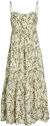 Shona Joy Suzette Floral Tiered Mini Dress