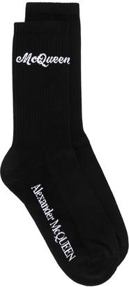 Alexander McQueen Logo Knitted Socks