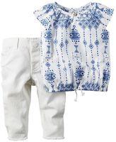 Carter's Baby Girl Tribal Top & Jeans Set