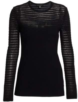 St. John Ottoman-Knit Shimmer Sweater