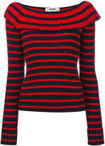 MSGM frilled neck knitted blouse - women - Acrylic/Wool - XS