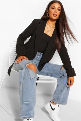 boohoo Tailored Belted Blazer