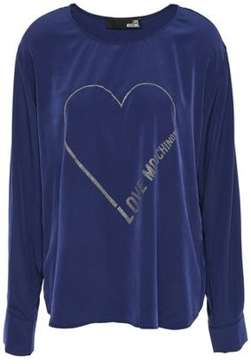 Love Moschino Glittered Crepe De Chine Top