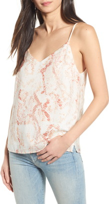 Cupcakes And Cashmere Hermosa Snake Print Satin Camisole