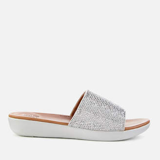 FitFlop Women's Sola Slide Sandals - Silver