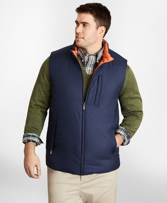 Brooks Brothers Big & Tall Reversible Quilted Down Vest