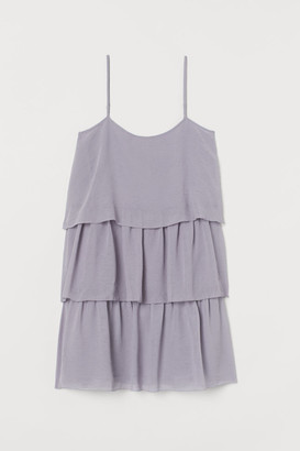 H&M Short Tiered Dress - Purple