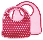 Built NY 2 PieceMess Mate Infant Bib, In Baby Pink Mini Dots by NY