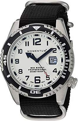 Momentum Men's M50 Mark II Stainless Steel Japanese-Quartz Diving Watch with Nylon Strap