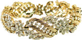 One Kings Lane Vintage Trifari Floral Crystal Bracelet