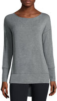Liz Claiborne Long-Sleeve Boatneck High-Low Tunic