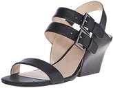 Nine West Women's Gadele Leather Wedge Sandal