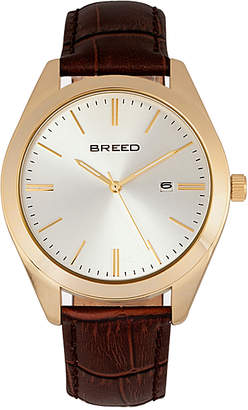 Breed Men's Watches Gold/Silver - Two-Tone Louis Leather-Strap Watch