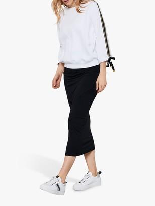 Mint Velvet Jersey Wrap Midi Skirt, Black