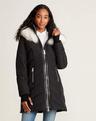 Nicole Benisti Solden Real Fur-Trimmed Hooded Down Coat
