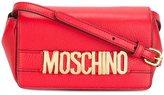 Moschino logo plaque crossbody bag
