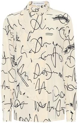 Victoria Beckham Printed silk crepe de chine blouse