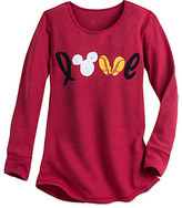 Disney Mickey Mouse Icon Long Sleeve Thermal Tee for Women