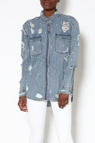Signature 8 Denim Button-Down Shirt