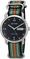 """Jack Spade Men's WURU0133 """"Conway"""" Stainless Steel Watch with Nylon Band"""