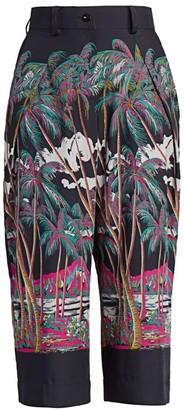 Sacai Sun Surf/Diamond Head Cropped Trousers