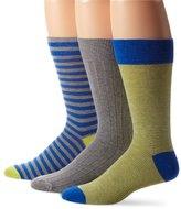 Cole Haan Men's Sailor Stripe 3-Pack Dress Socks