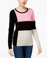 INC International Concepts Colorblocked Sweater, Only at Macy's
